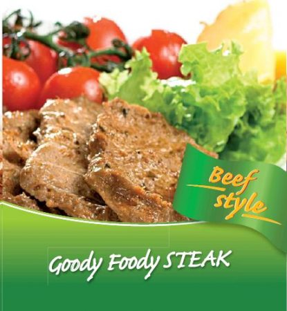 Goody Foody – Beef Style VEGAN - marhahús ízű – STEAK 400g