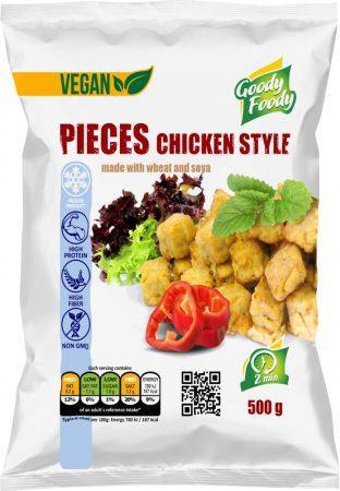 Goody foody - vegan kockák - csirkehús ízű - 500g mirelit